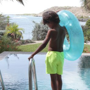 Boys Neon Yellow Tailored Swim Short