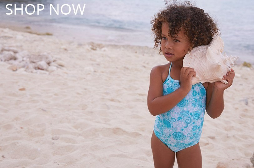 Girls Shell Lace Swimwuit