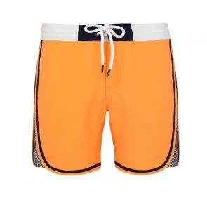 Teen Boys Neon Orange Mesh Panel Board Shorts