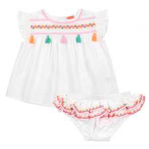 Baby Girls White Embroidered Cotton Set