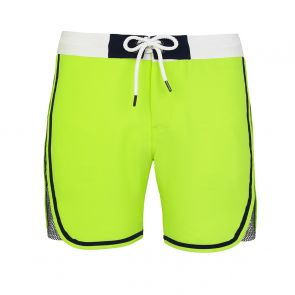 Teen Boys Neon Yellow Mesh Panel Board Shorts