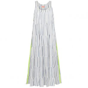 Womens Blue With Neon Strip Maxi Dress