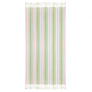 Cream Tribal Striped Beach Towel