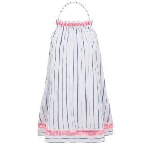 Teen Girl Blue Stripe Halter Dress