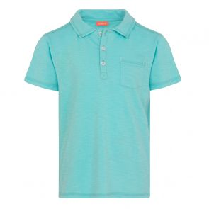 Boys Blue Cotton Slub Polo