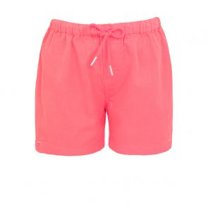 Boys Neon Orange Cotton Drawstring Short