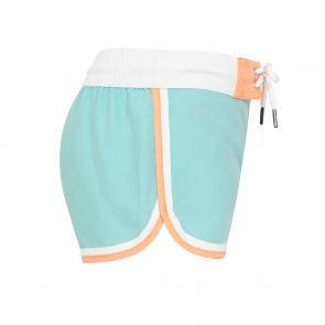 Girls Aqua Colourblock Surf Shorts