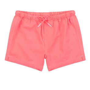 Baby Boys Neon Orange Cotton Drawstring Short