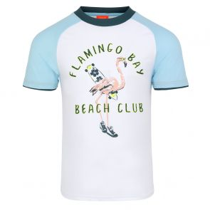Boys Flamingo Bay Short Sleeve Rash Vest