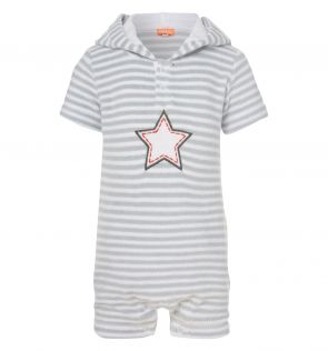 Baby Boy Star Towelling Onesie main