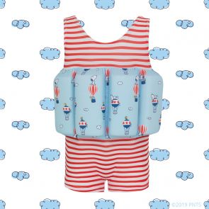 Boys Red Stripe Snoopy Float Suit