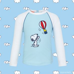Baby Boys Blue Snoopy Long Sleeve Rash Vest