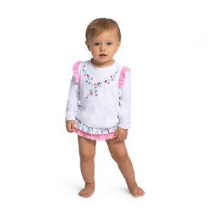 Baby Girls English Floral Rash Vest