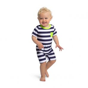 Baby Boys Navy Sunuva Stripe Sun Suit