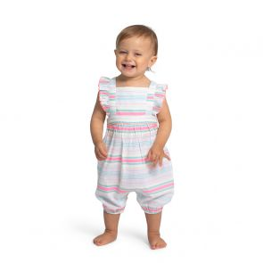 Baby Girls Multi Stripe Romper