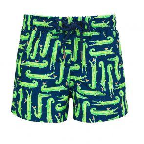 Baby Boys Navy Crocodile Swim Shorts