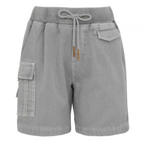 Boys Grey Cargo Cotton Shorts