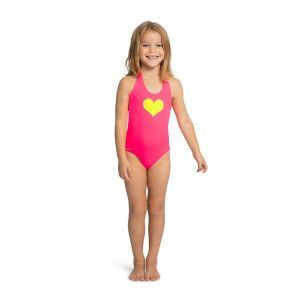 Girls Pink & Green Reversible Halter Neck Swimsuit