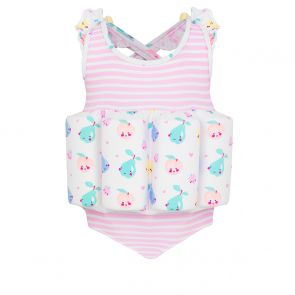 Girls Pink Stripe Fruit Friends Float Suit