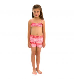 Girls Indian Block Swim Shorts