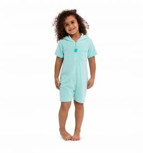 Girls Frozen Aqua Towelling Onesie
