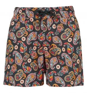 Boys Neon Paisley Swim Shorts