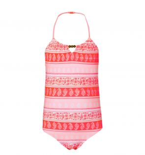 Girls Indian Block Swimsuit