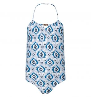 Girls Blue Ikat Swimsuit