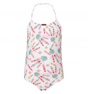 Girls Pink Dreamcatcher Swimsuit