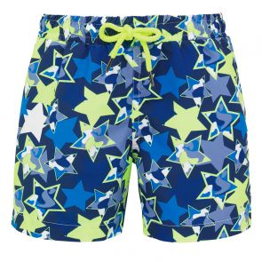 Boys Blue Camo Stars Swim Shorts