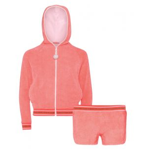 Girls Pink Towelling Set