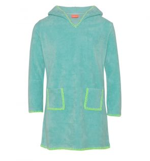 Girls Aqua Towelling Dress