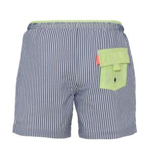 Baby Boys Navy Sunuva Stripe Swim Shorts