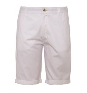 Boys White Cotton Tailored Shorts