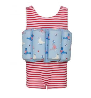 Boys Red Sailor Seal Floatsuit