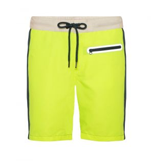 Boys Neon Yellow Java Contrast Board Shorts