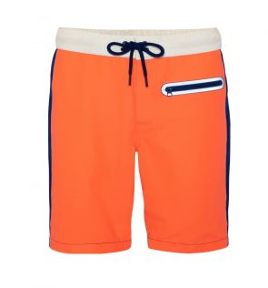 Teen Boys Orange Contrast Board Shorts