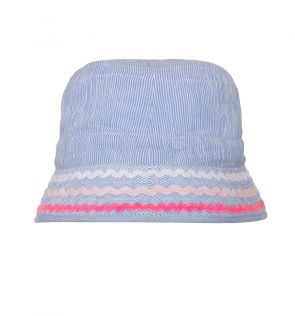 Girls Blue Canvas Bucket Hat