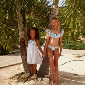 Girls White Mexicana Off Shoulder Bikini