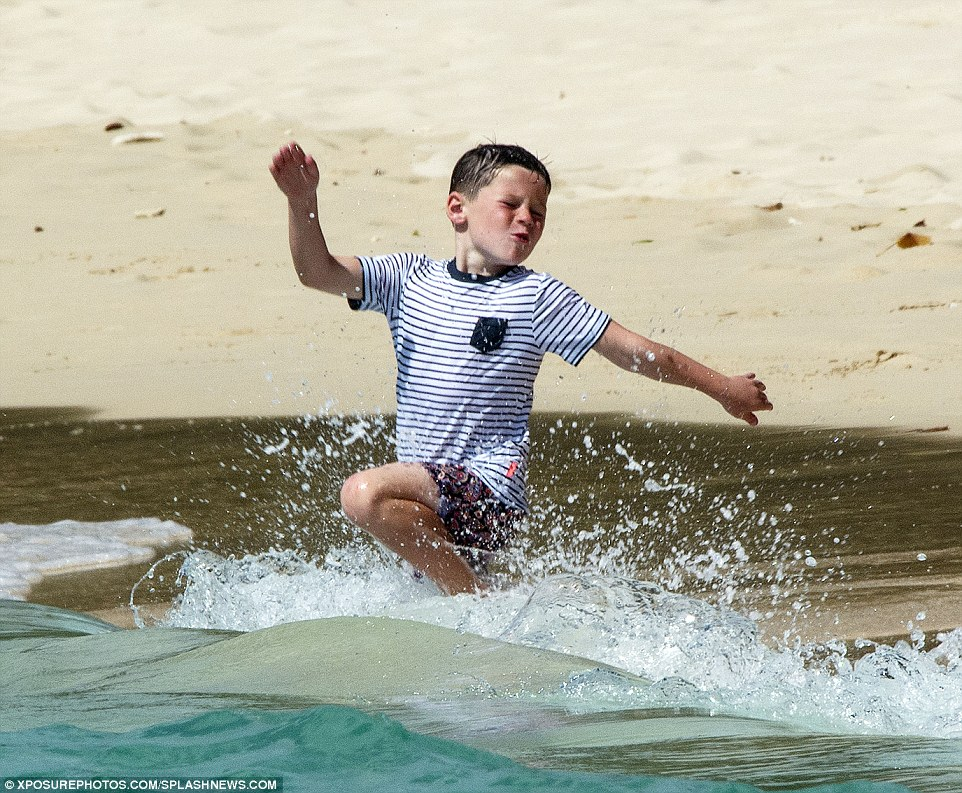 Kai Rooney Spotted in Neon Paisley Print in Barbados