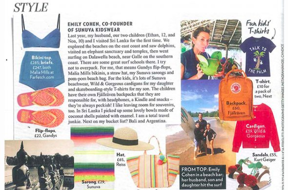 Emily Cohen the co-founder of Sunuva in RED Magazine